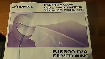 Genuine 2004 Honda Fjs600 D/a Silver Wing Owners Manual 37Mct631