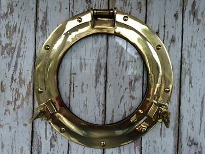 "11"" Brass Porthole Glass / Window ~ Nautical Maritime ~ Cabin Port Hole"