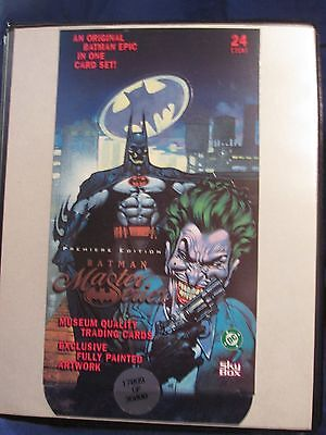 BATMAN MASTER SERIES 1996 SKYBOX COMPLETE 90 CARD BASE SET From DC COMICS