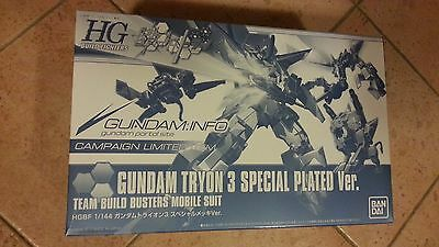 GUNDAM TRYON 3 SPECIAL PLATED Ver. HGBF 1/144 CAMPAIGN LIMITED BANDAI MODEL KIT