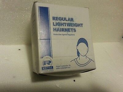 1 BoxOf 144 Ct Pack Royal ReguarLightweight  BLACK Hairnets RPH144LTBK New!
