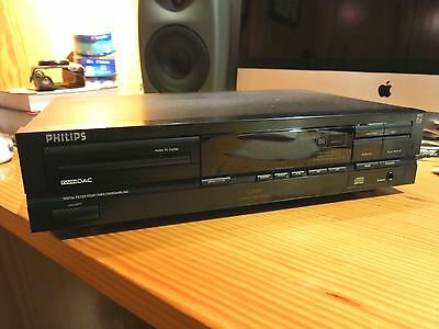 Philips CD 610 CD Player with double converter, Read also burned.No Remote