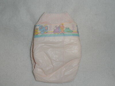 Vintage Huggies PINK Girl Collectible Diaper 1991 KKC Step 2  ABDL