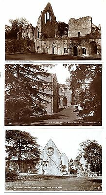 DRYBURGH ABBEY, Scotland. 5 x Old Photographic Postcards.