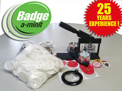 57mm Multipress  Badge Making Machine with 250 buttons and circle cutter