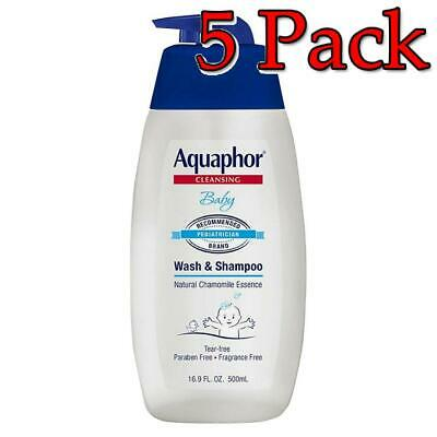 Aquaphor Baby Gentle Wash & Shampoo, 16.9oz, 5 Pack 072140021092S619