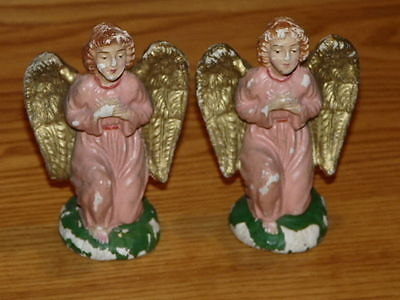 2 Vintage ANGELS Nativity Figures Italy Made