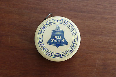 Antique Celluloid Sewing Tape Measure Adv. Bell System Telephone & Telegraph Co.