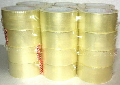 6 ROLLS OF CLEAR CELLOTAPE PACKAGING PARCEL PACKING TAPE 48mm x 66m 50mm
