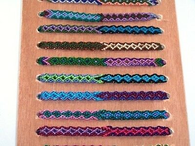 Bulk Pack Of 12 New Cotton Rasta Friendship Bracelet Ethically Made In Guatemala