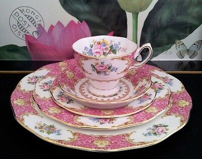 """Royal Albert Trio/dinner And Entree Plate """"lady Carlyle"""" C2003"""
