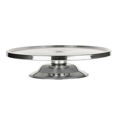 Silver Stainless Steel Cake Stand Round  Candy Buffet  Dessert Table 32cm