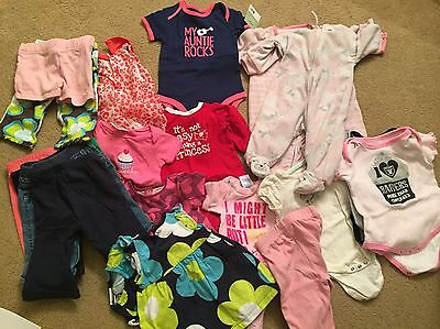 3 Month 21 Piece Baby Girl Clothing Lot Carters Old Navy Children's Place EUC