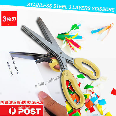 3 Long Blades Stainless Steel Scissors Cutter Craft Paper shear Home Office Kitc