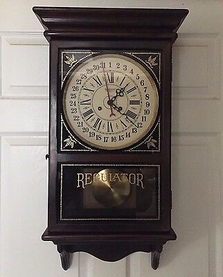 New England 14-Day Cathedral Chime  Regulator Calendar Wall Clock - Please Read