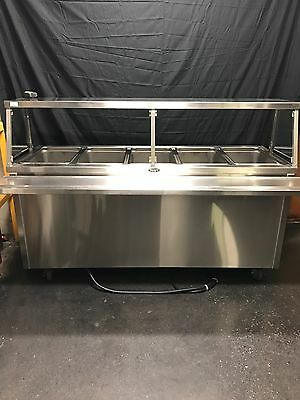 "*NEW* 72"" Randell Stainless Steel 5 Well Electric Steam Table Buffet Portable"