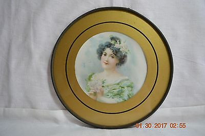 Vintage Glass Victorian Lady Stove Pipe Chimney Flue Cover