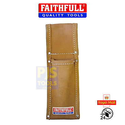 Faithfull FAISLH heavy duty leather scaffolders level or spanner frog holder