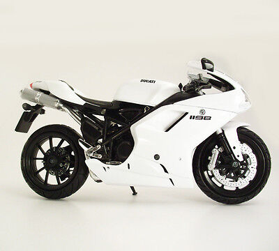 Ducati 1198 In White 1:12 Diecast model Motorcycle From NewRay