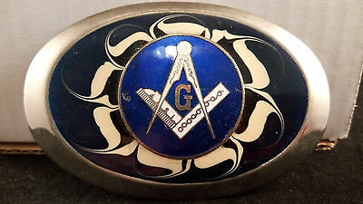 Vintage Masonic Belt Buckle Freemasons Masons lodge (E92)