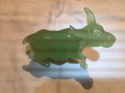 Vintage Chinese Hand Carved  Jade  Water Buffalo