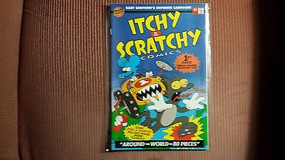 Itchy and Scratchy Comics,1993 #1 With Poster RARE, Simpsons, Bongo Comics