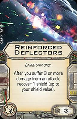 Star Wars X-wing Miniatures Reinforced Deflectors SYSTEMS upgrade card