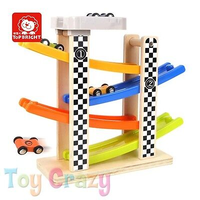 Wooden Toy Ramp Car Racing Track Toy