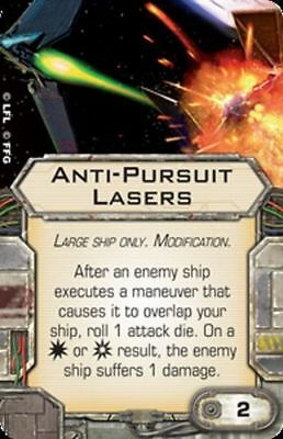 Star Wars X-wing Miniatures Anti-Pursuit Lasers MODIFICATION upgrade card