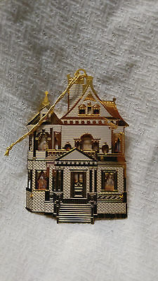 Bing & Grondahl 24k GP 1st Victorian Doll House Christmas Ornament