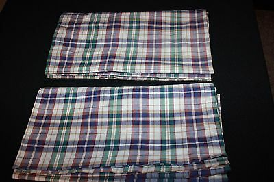 "Pair (2) Longaberger WOVEN TRADITIONS PLAID Valances 75""x18"""
