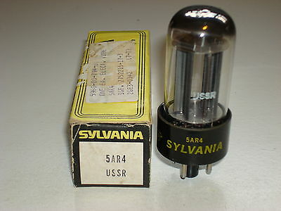 1 Sylvania 5Ar4 (Gz34) Full Wave Rectifier Nos Vacuum Tube Ussr Tested