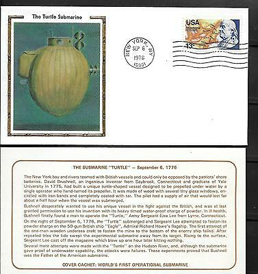 Turtle Submarine Kenmore Stamp Co Lk Cacet