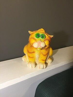 Exhart Cat Bobber Head & Tail Statue