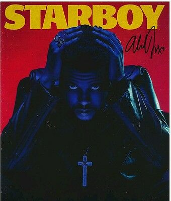 The Weeknd Starboy Autograph Signed 8x10 Poster Photo Pre order