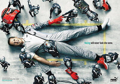 "044 Michael Schumacher - Mercedes Germany F1 Racing Driver 33""x24"" Poster"