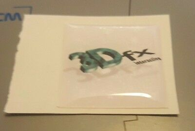 """3dfx Interactive (Old Logo) Domed Case Sticker/Badge (25mm x 25mm / 1""""x1"""")"""