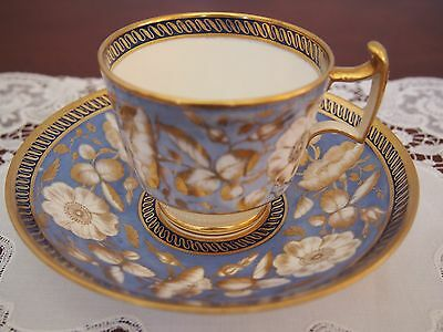 C 1820 Beautiful Antique Spode Cup and Saucer  'Dog Rose'
