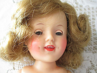 Vintage 50s IDEAL Shirley Temple Character Vinyl Doll ST-12 4 original outfits