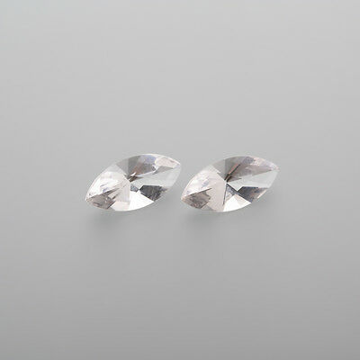 1 Pair Morganite Navette 12x6mm 2,91 Ct through faceted / real Morganite / L 4