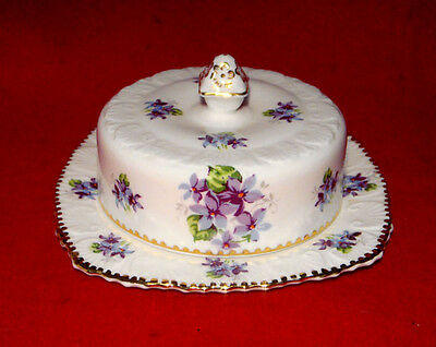 Royal Stafford *sweet Violets* Covered Butter Dish Made In England