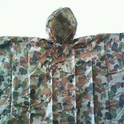 Auscam Poncho Military 200X127Cm Pu Coated-Taped Seams- Snap Buttons On Side Tas