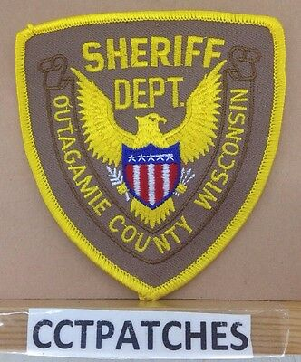 Outagmie County, Wisconsin  Sheriff Stock Eagle (Police) Shoulder Patch Wi