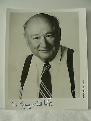 EDWARD KOCH * 105th Mayor of New York City *  ORIGINAL AUTOGRAPH SIGNED PHOTO