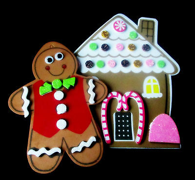 GingerBread Man & House Ornaments- Christmas Craft Kit- Prizes Stuffer Favors