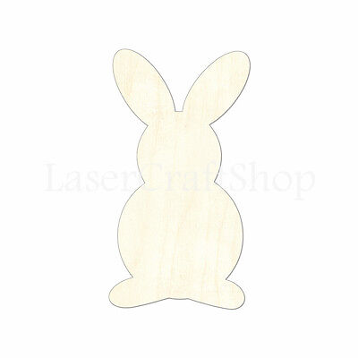 Easter Bunny Wooden Cutout Shape Silhouette Tags Ornaments Laser Cut 1731
