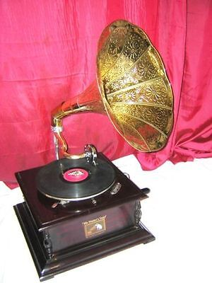 Valentine Offer Gramophone Phonograph Brass Crafted Horn Sound Box Needle Set