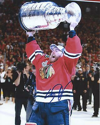 Scott Darling Signed 8x10 Photo Stanley Cup Chicago Blackhawks Autographed COA