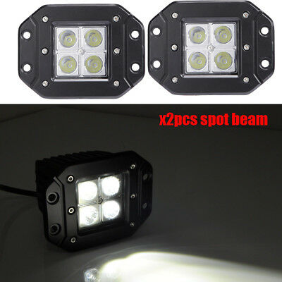 Square Pair 7x6 CREE LED Headlights H4 Light for Jeep Wrangler YJ Cherokee GMC