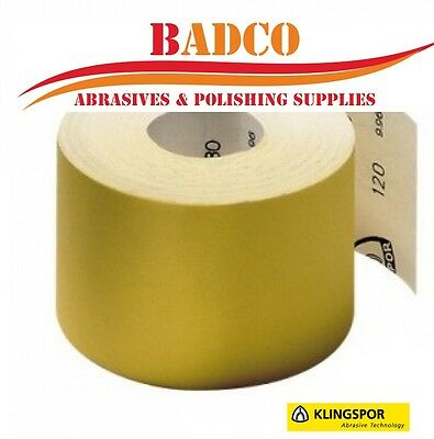 KLINGSPOR PS30D 115mm x 50m Sandpaper Roll -  wood paint varnish filler